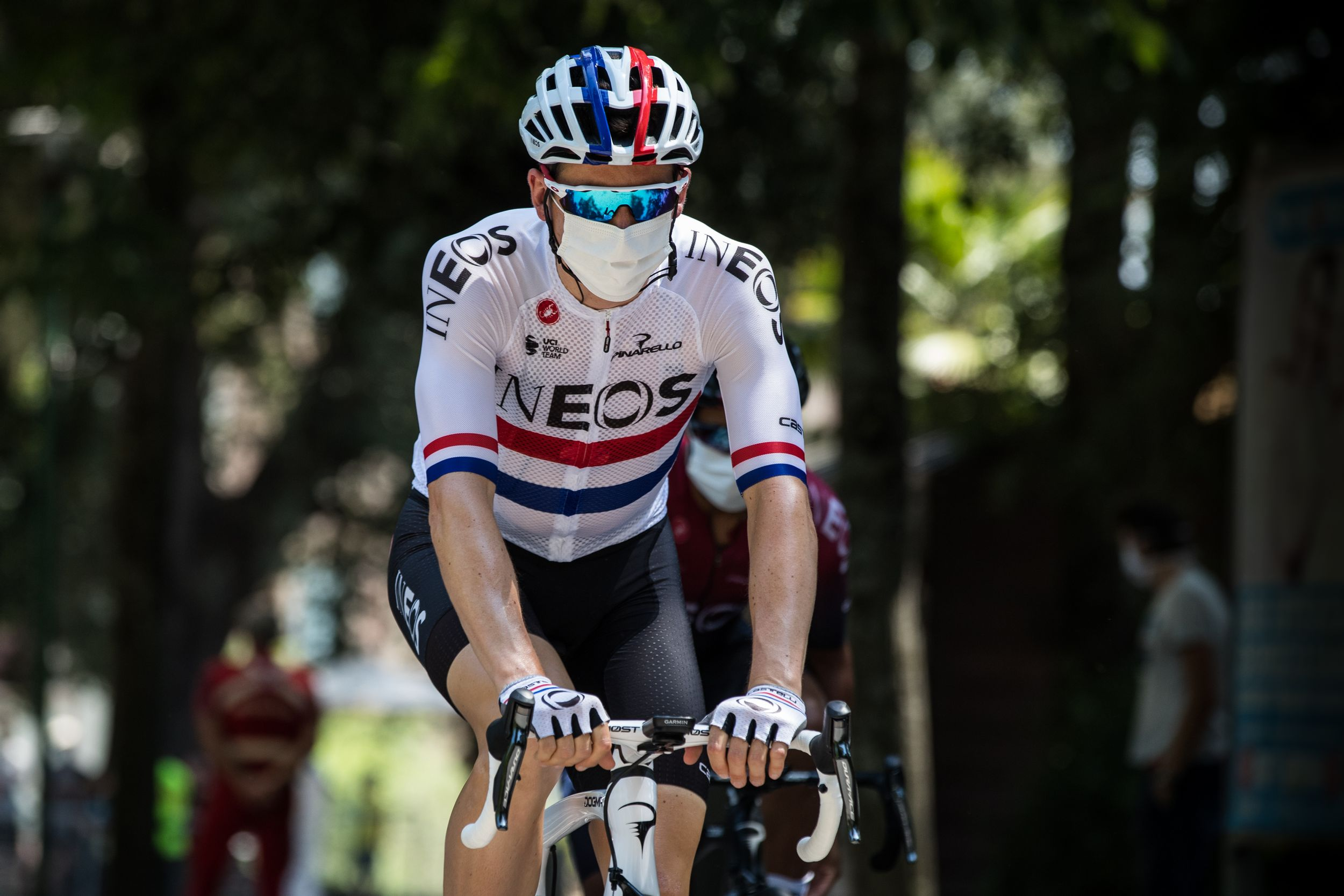 Team Ineos aan de start van Strade Bianche