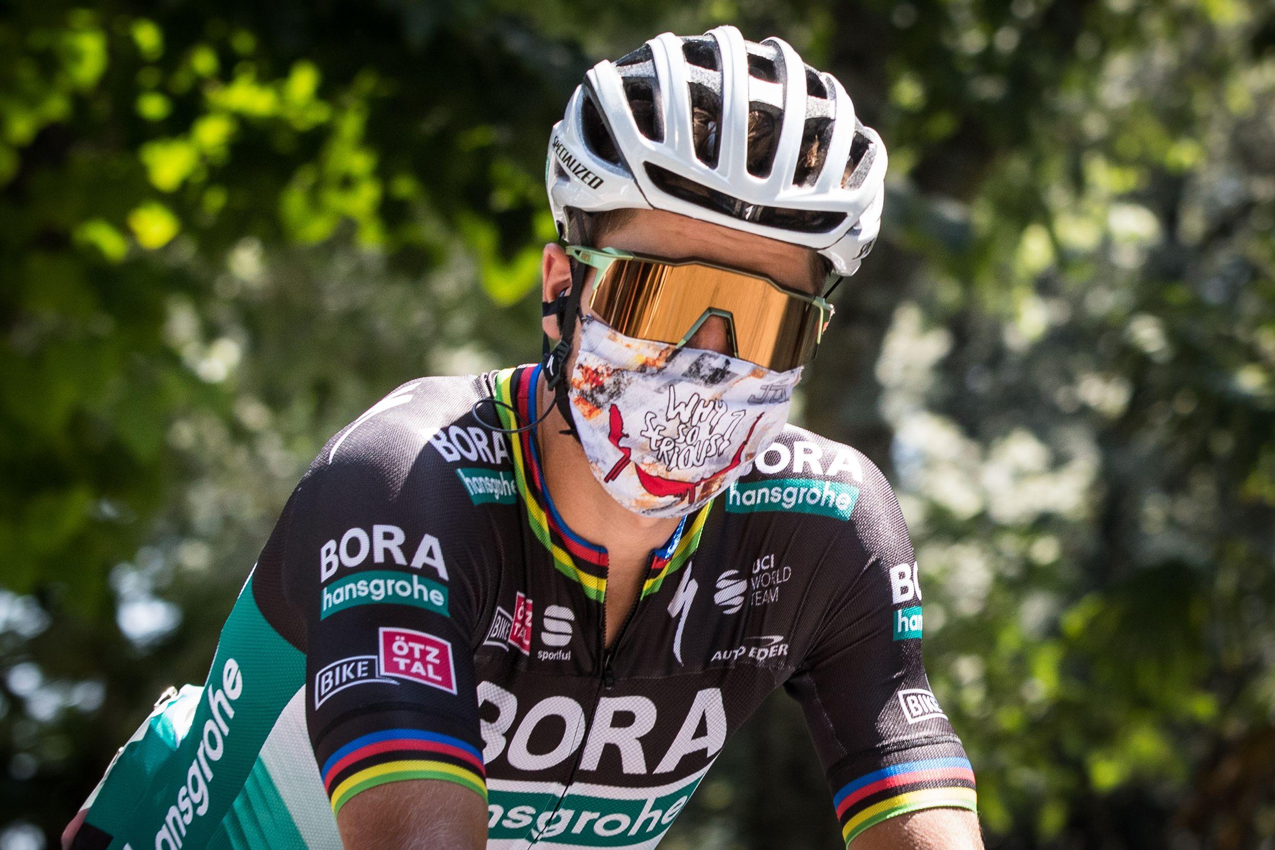 Peter Sagan aan de start van Strade Bianche