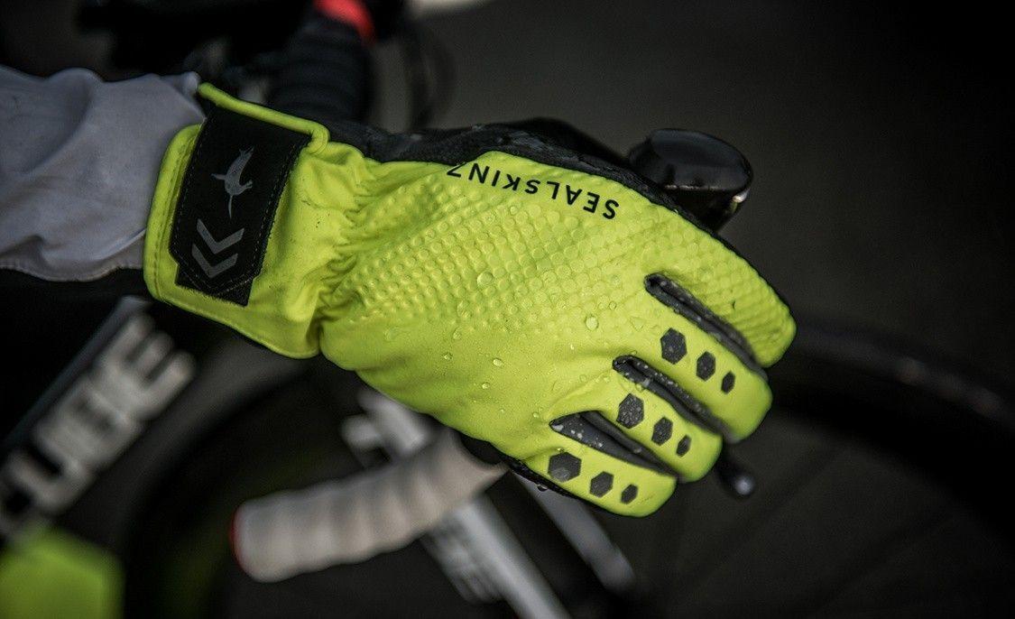 Sealskinz Fluor Gele Regenbestendige Handschoen