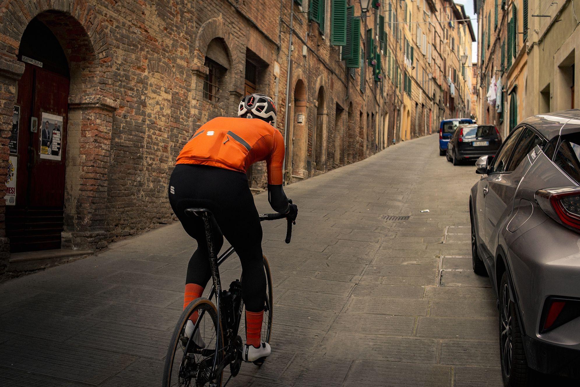 Strade Bianche aankomst Siena