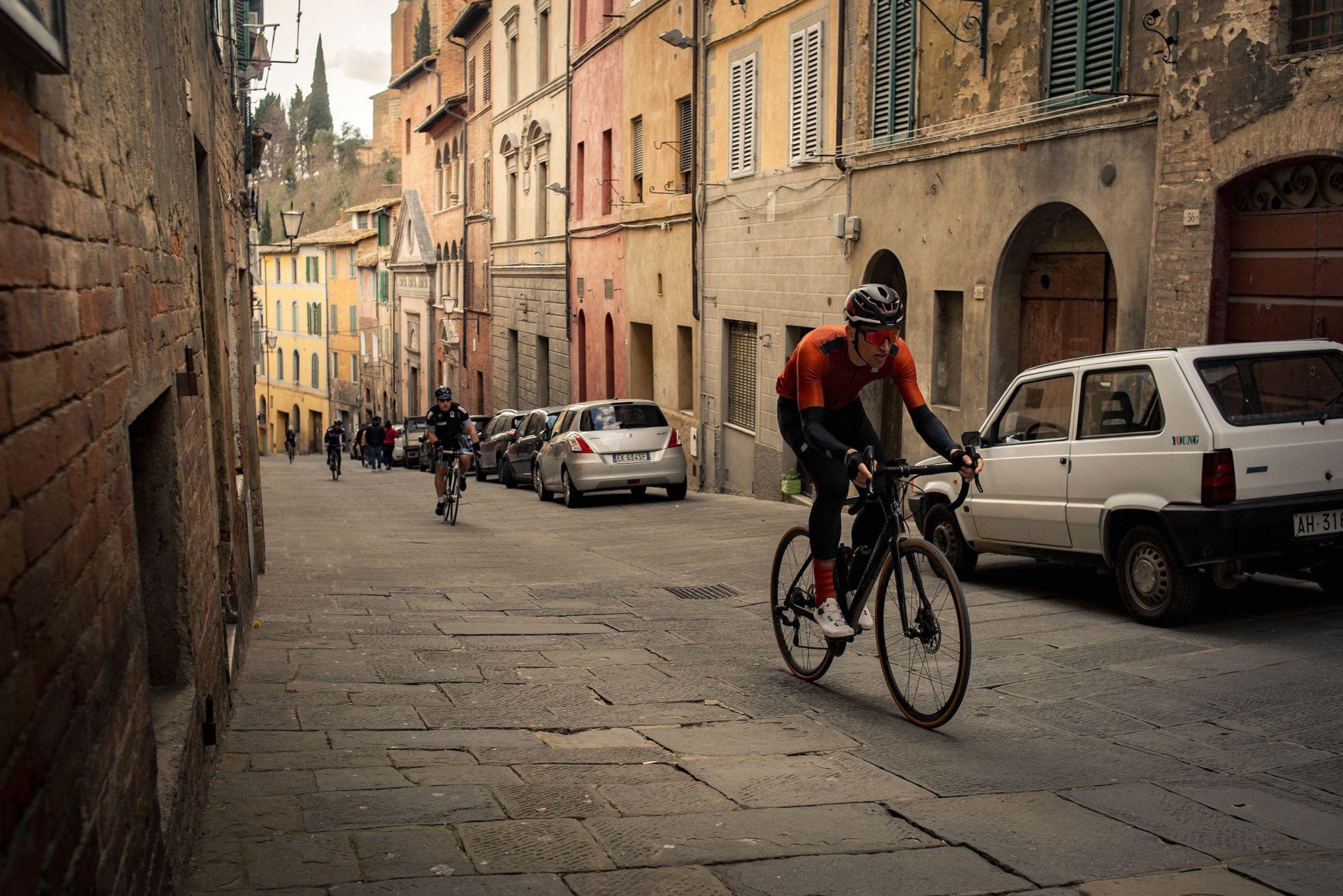Granfondo Strade Bianche aankomst Siena